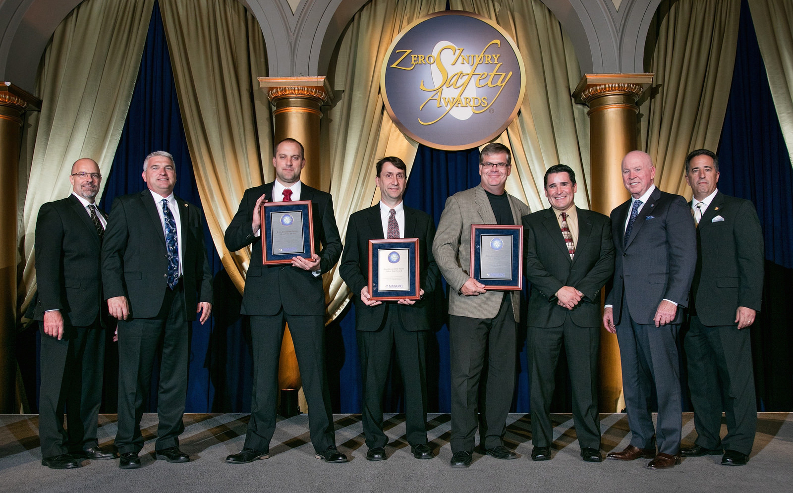 MC Industrial team accepts NMAPC Safety Award