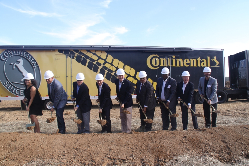 Continental Celebrates Groundbreaking for Mississippi Tire Plant