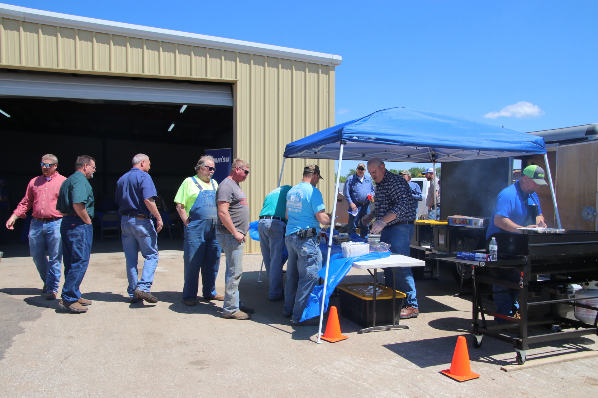The weather and the turnout were both great for Berry Tractor's Open House.