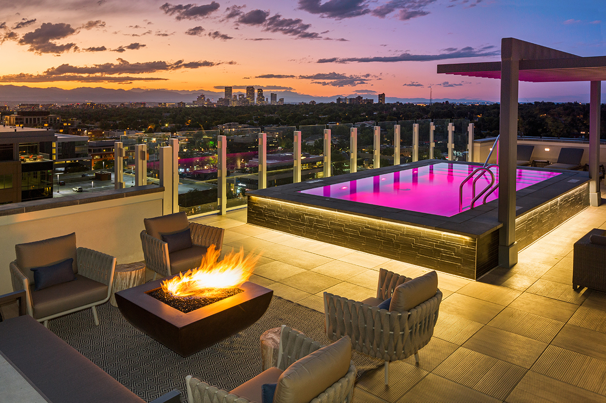 Coda Rooftop Pool and Fire Pit
