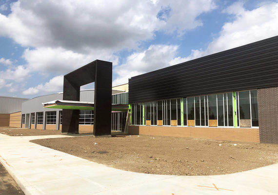 Mt vernon middle school new main entry exterior2